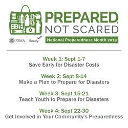 2019 Preparedness Month Prepared Not Scared