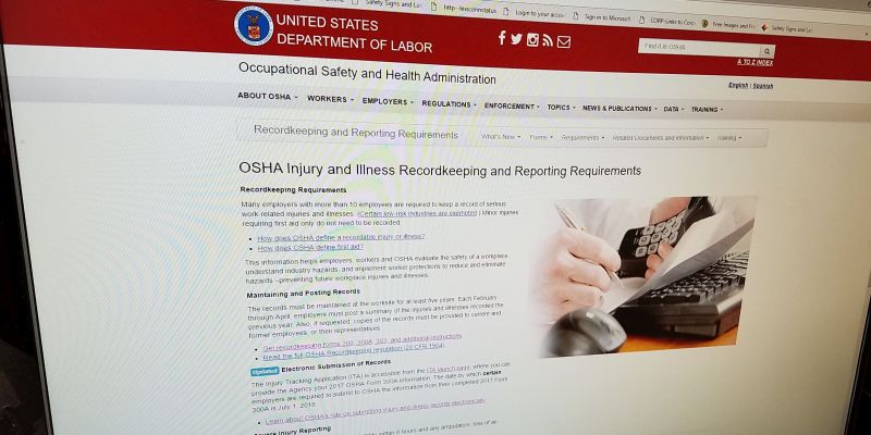 OSHA injury / illness recordkeepingte