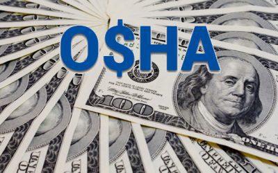 OSHA Fines Reach $2.25 million from July to September 2020