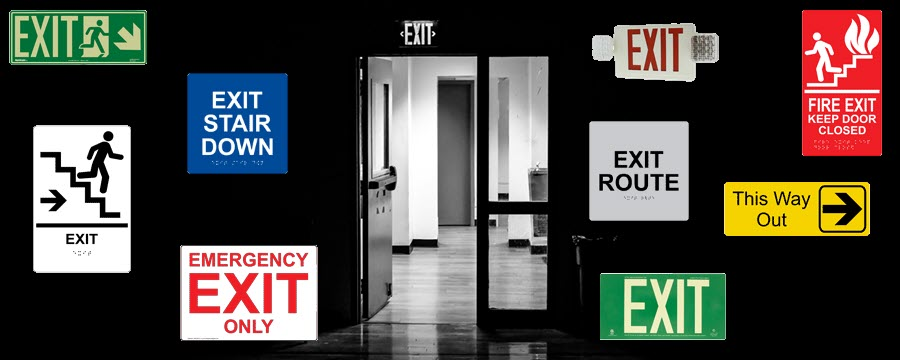 Exit signs by ComplianceSigns.com
