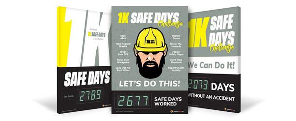 Browse 1K Safe Days Digital Scoreboards