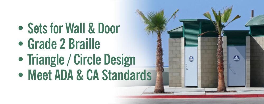 CA Title 24 Restroom Signs & Symbols