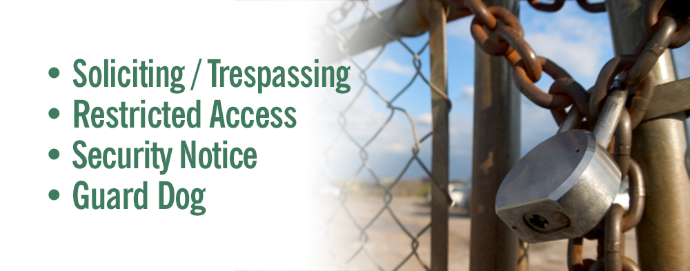 No Trespass / Security Signs & Labels