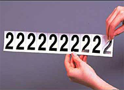 adhesive letters numbers