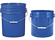 barrels buckets trash containers
