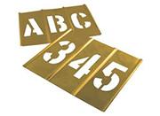 brass letter number stencils