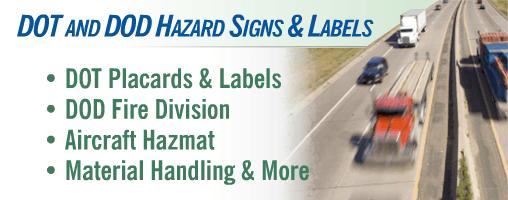 $Chemical - DOT / DOD Hazard Class Signs