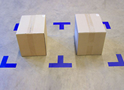 pallet alignment markers