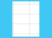 plastic perforated card sheets