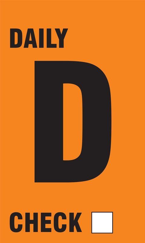 Daily TPM Inspection Tags Orange 25 pk 11AITD