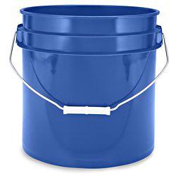 3.5 Gallon Color Coded Plastic Bucket 6 pk