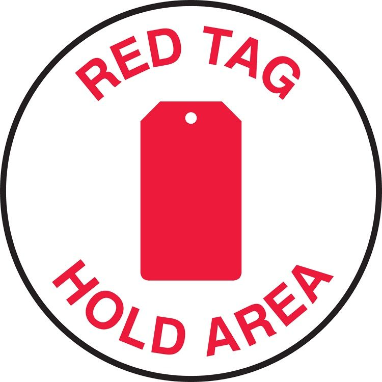 Slip-Gard Red Tag Area Sign