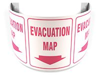 Evacuation Map 180D Projection Sign 40SPS152