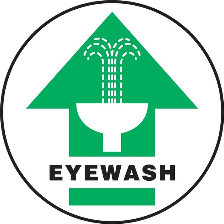 Slip-Gard Eyewash (Arrow) Floor Sign