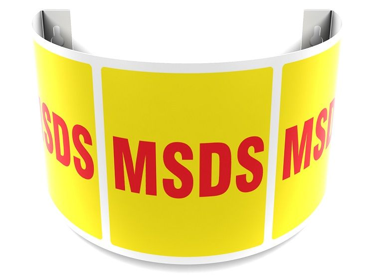 MSDS 180D Projection Sign with Red Text