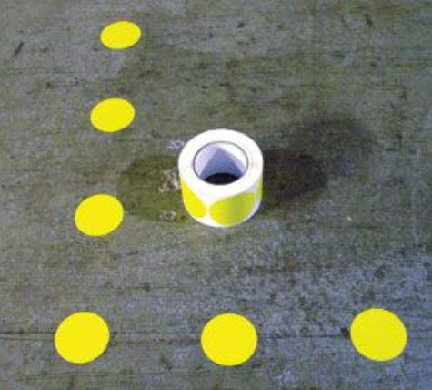 3 in. Dot Floor Marking Symbols 500 pk
