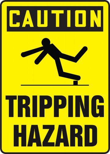 Caution Tripping Hazard Sign 40S4666