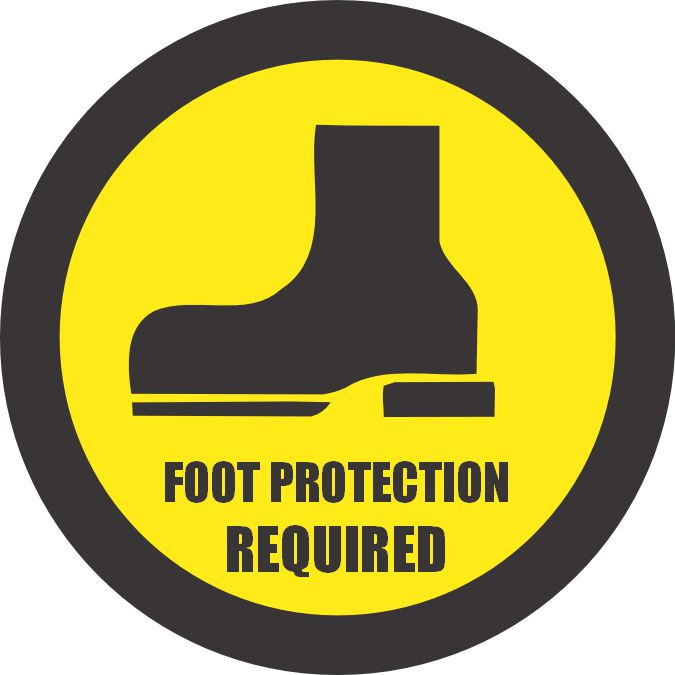 Foot Protection Required Sign