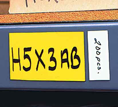 3.5 in. x 5.5 in. Shelf Label Magnets 25 pk