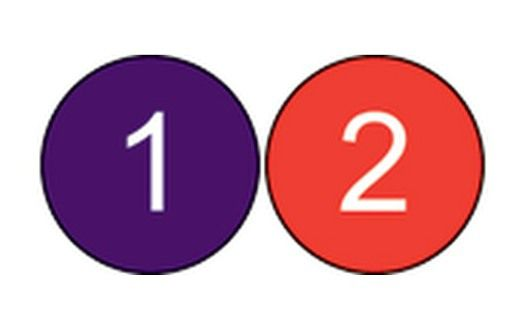 1 inch Number Circles