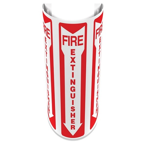 12 inch Slim Fire Extinguisher 180D Projection Sign