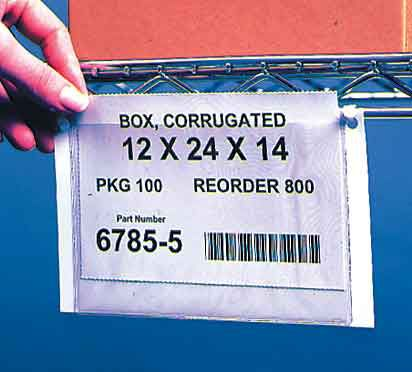 3-1/4 in. x 5 in. Wire Rack Pouch Label Tags