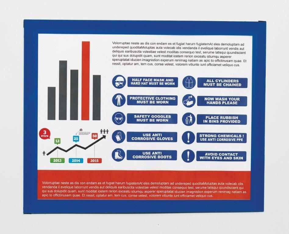 11 in. H x 17 in. W Magnetic Quick-Pocket Document Holder - Landscape
