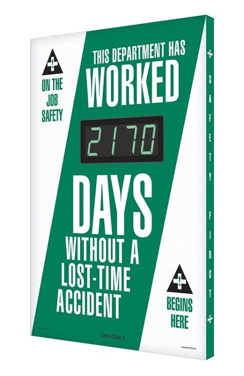 Digital Scoreboard: This Department Has Worked _ Days Without A Lost Time Accident 15SES503