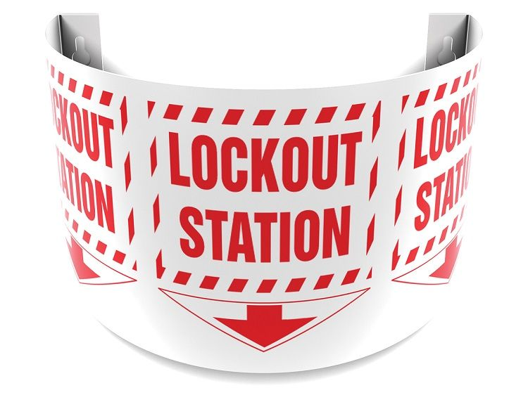 Lockout Station 180D Projection Sign