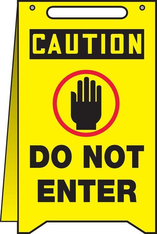 OSHA Caution Fold-Ups: Do Not Enter