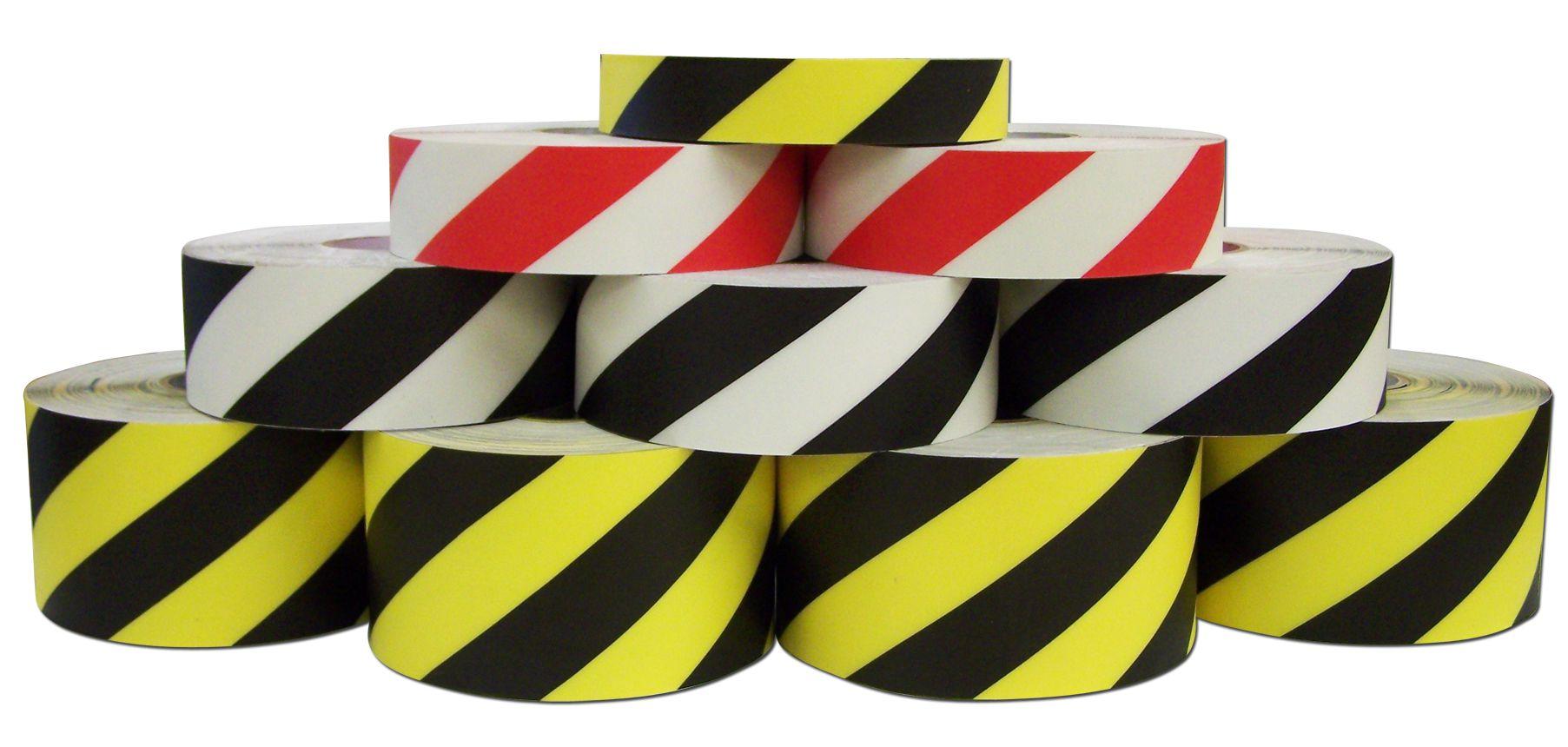 2 in. x 100 ft. DuraStripe Striped Supreme V Heavy Duty Floor Tape