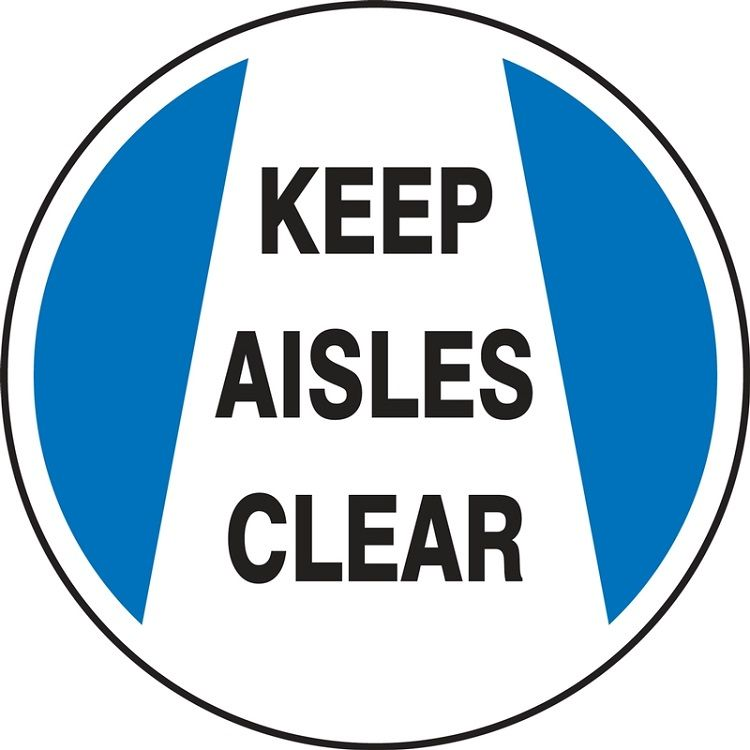 LED Floor Sign Projector Lens ONLY - Keep Aisles Clear