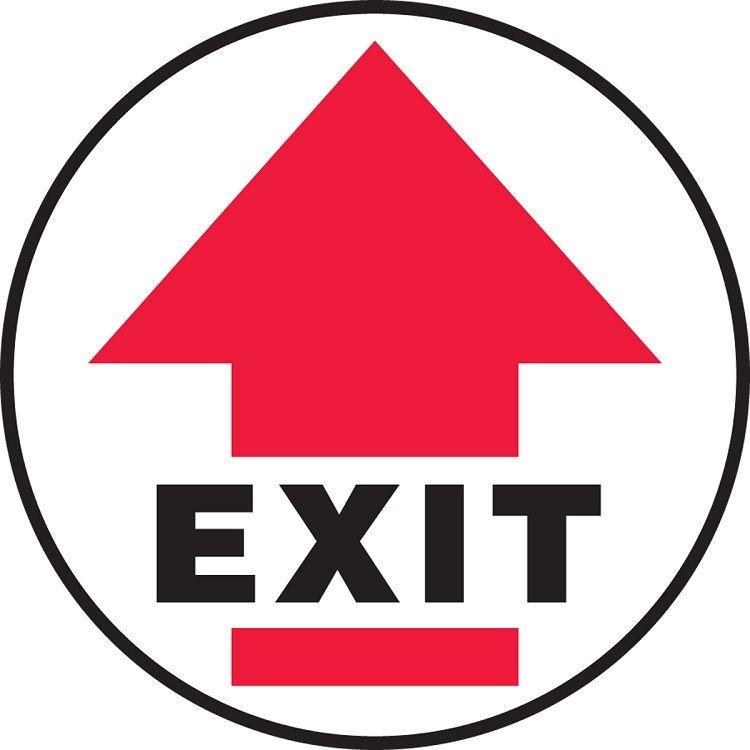 Slip-Gard Exit (Arrow) Floor Sign