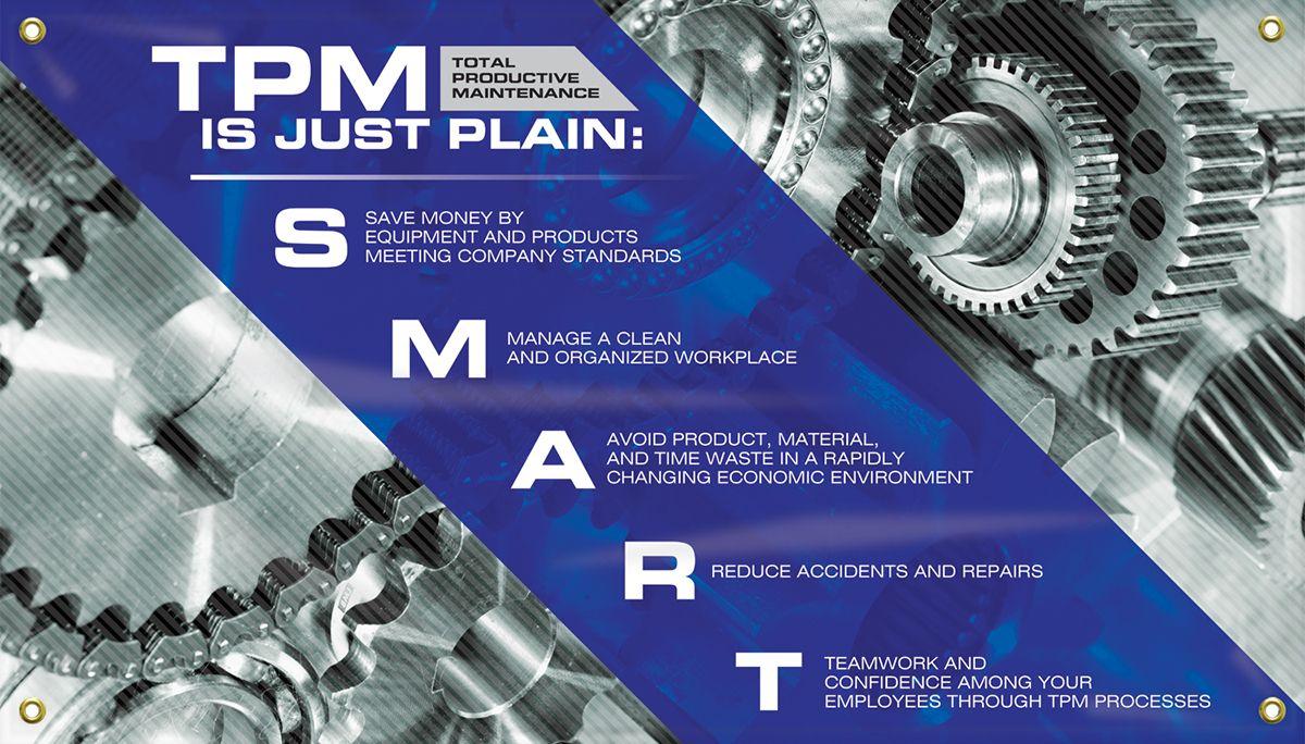 "TPM Motivational Banner: TPM Is Just Plain SMART, 28"" x 48"""