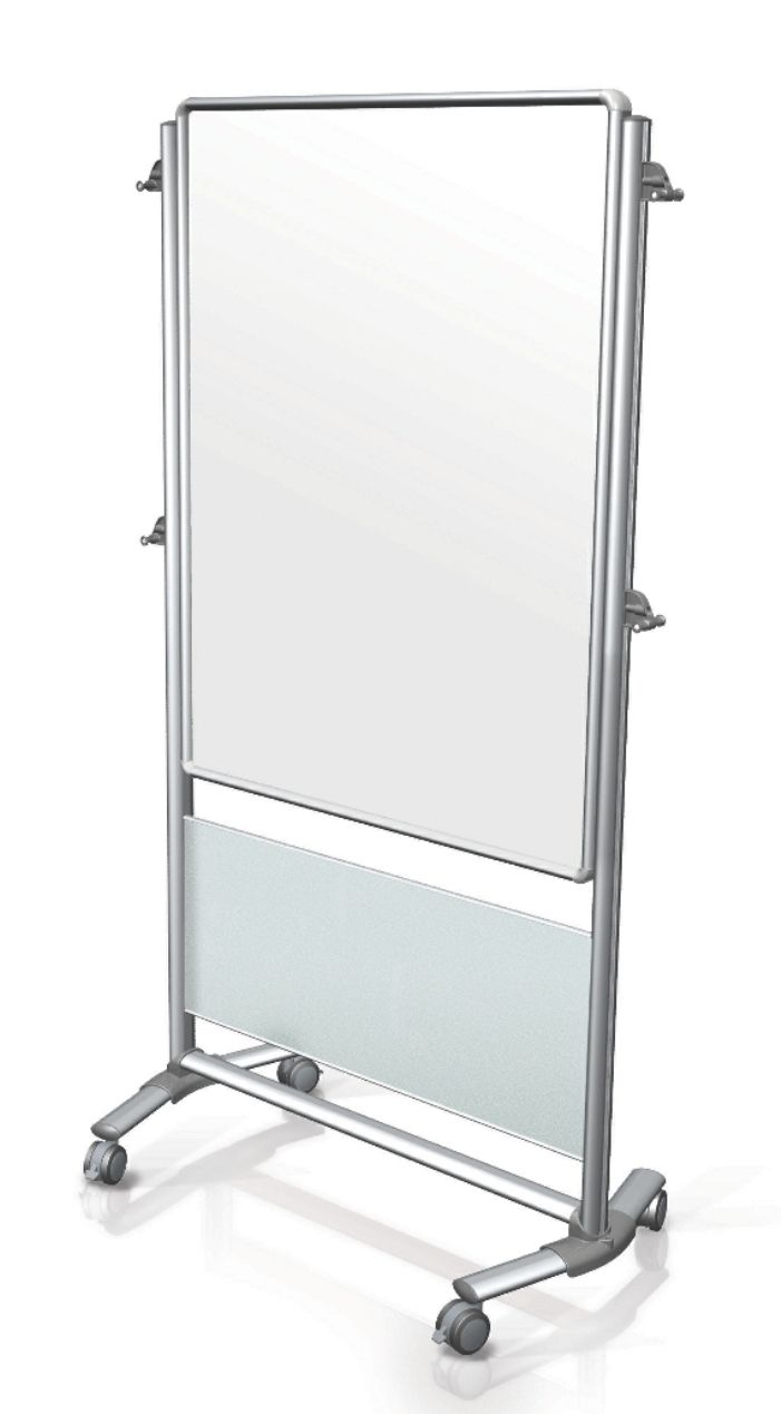 46 in. x 34 in. Nexus Easel - Double-Sided Mobile Magnetic Whiteboard
