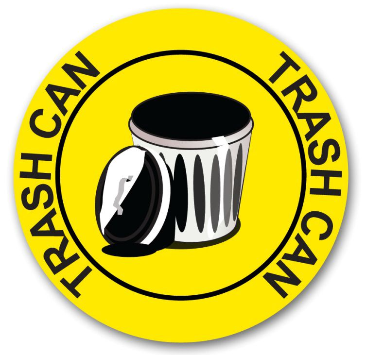 Trash Can Circle Sign 40S4077
