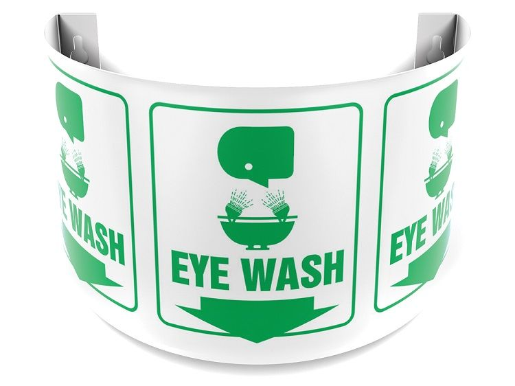 Eye Wash 180D Projection Sign 40SPS129