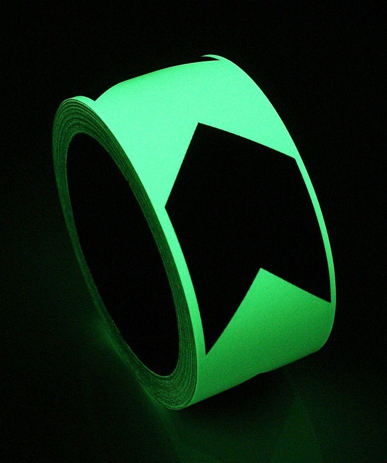 2 inch Glow-in-the-Dark Directional Arrow Tape