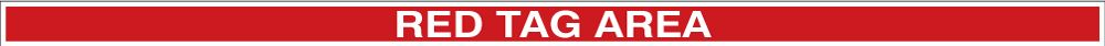Tough-Mark Heavy Duty Floor Marking Message Strip: Red Tag Area