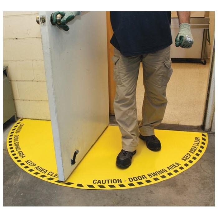 Caution FULL Door Swing Area Floor Sign