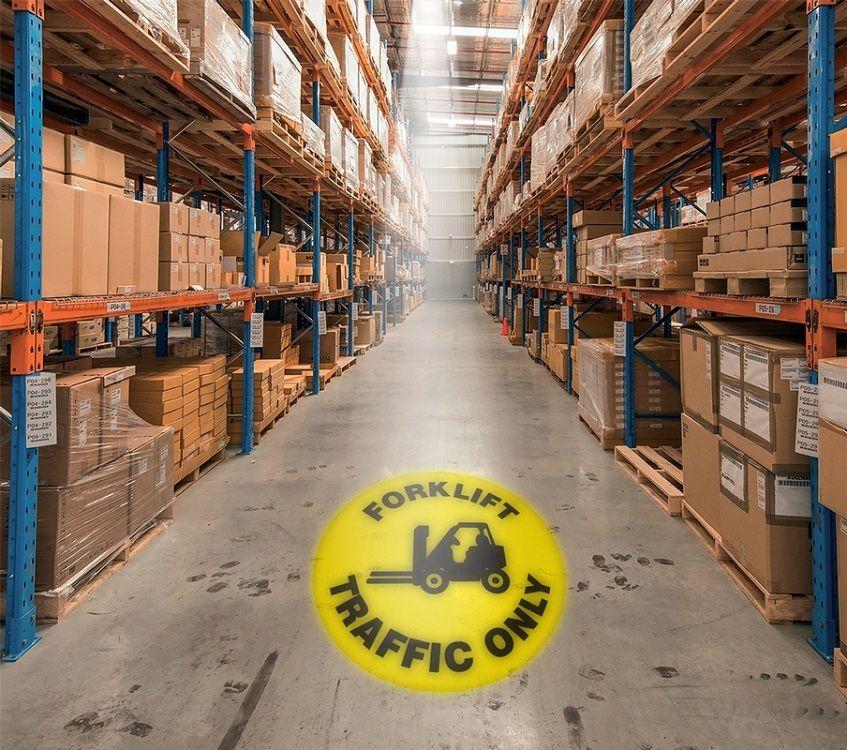 LED Floor Sign Projector - Forklift Traffic