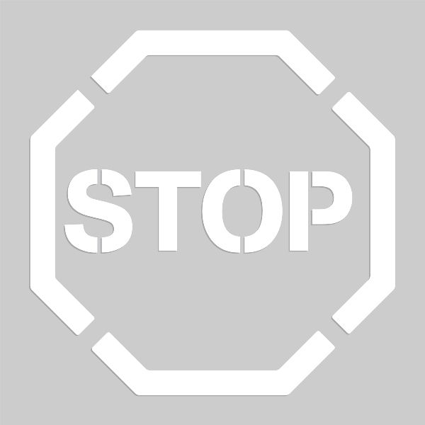 20 inch Stop Sign Stencil