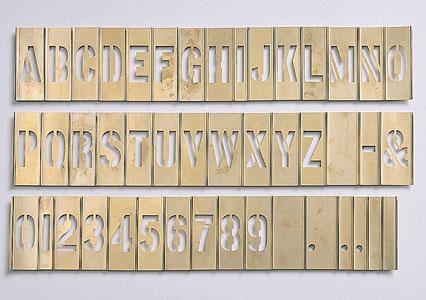 """3"""" Brass Interlocking Individual Stencil 10BSI3"""