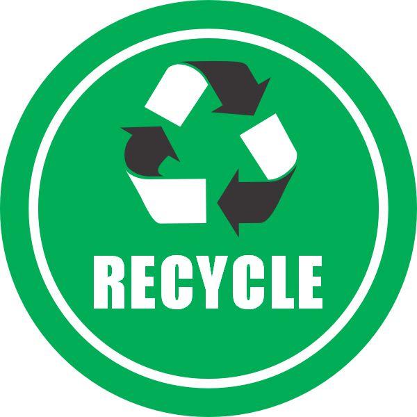 Green Recycle Floor Sign