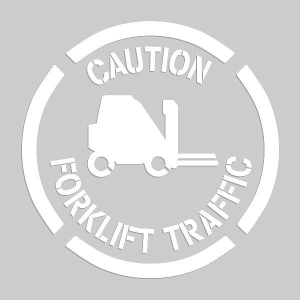 20 inch Caution Forklift Traffic Stencil