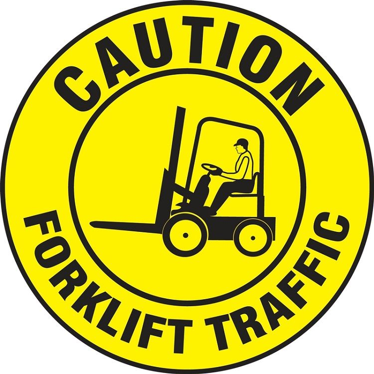 LED Floor Sign Projector Lens ONLY - Caution Forklift Traffic