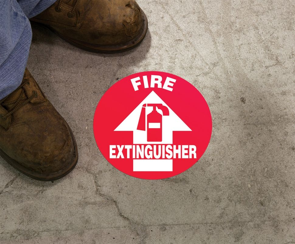Slip-Gard Fire Extinguisher Circle Sign
