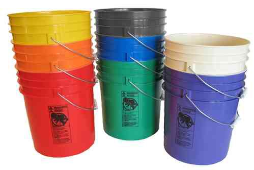 5 Gallon Color Coded Bucket 6 pk 45CBCC56