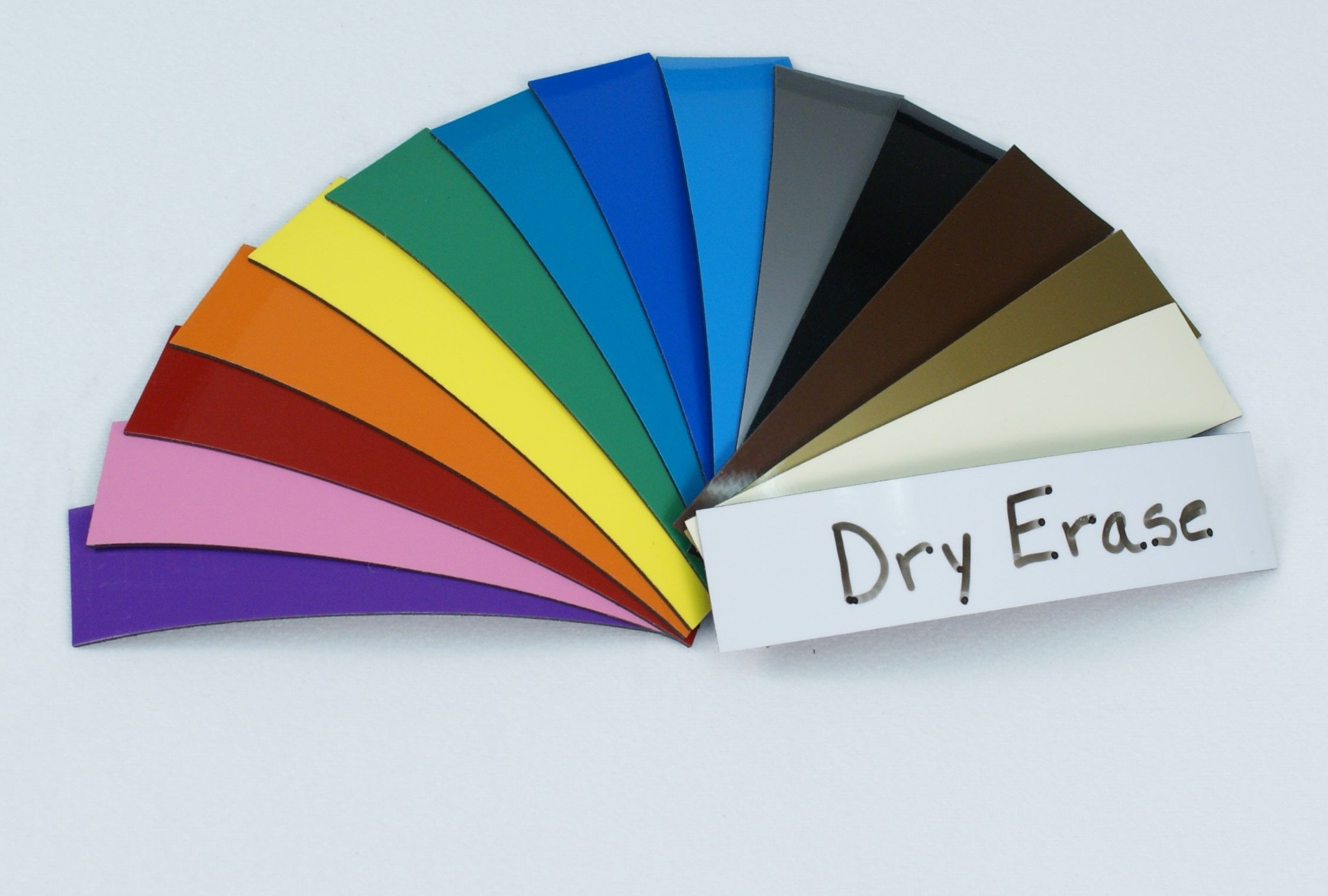 1 in. x 4 in. Dry Erase Color Magnets 25 pk