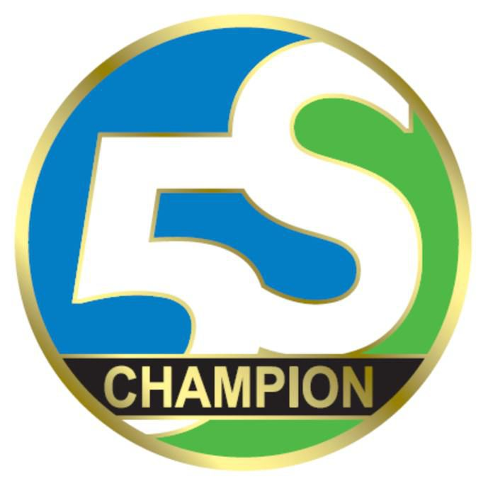 5S Champion Magnetic Pin 1.5 in. Dia